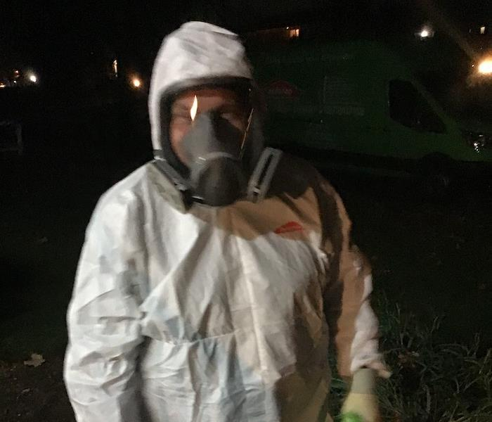 SERVPRO technicians in personal protective equipment