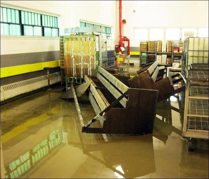 Standing Water After Severe Storm Causes Flood Damage in Commercial Building, Wayne, NJ