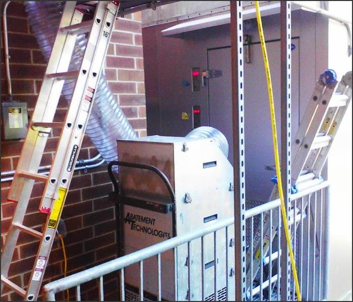 SERVPRO Sets Up Equipment for HVAC Duct Cleaning in Newton, NJ