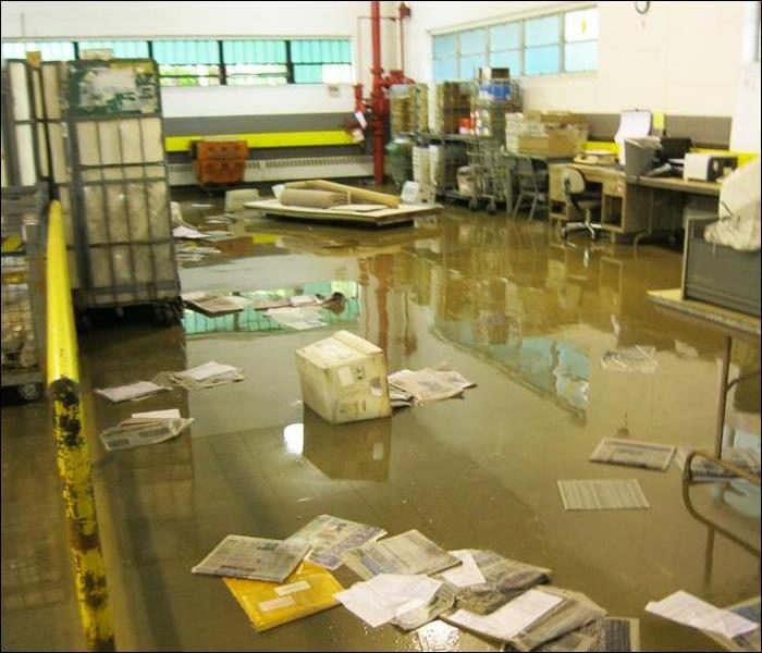 Flooded Basement In Commercial Property: SERVPRO Of Wayne Gallery Photos